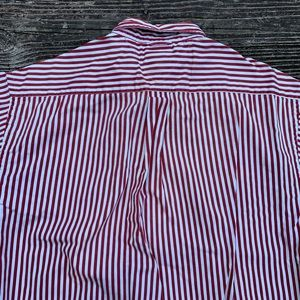 Tommy Hilfiger Shirts - Tommy Hilfiger | Red & cream vertical stripe shirt